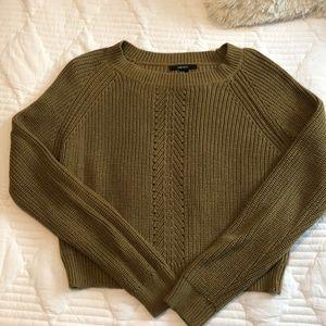 Forever 21 crop mustard sweater